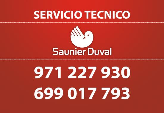 Servicio t cnico saunier duval reparaciones a domicilio for Servicio tecnico roca palma de mallorca
